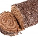 Chocolate Swiss roll — Stock Photo