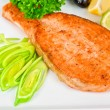Grilled salmon steak — Stock Photo #4146334