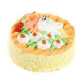 Cream cherry cake — Stock Photo