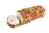 Nuts Swiss roll — Stock Photo