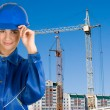 Builder girl — Stock Photo #4400874