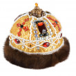Regal kings fur crown - Stock Photo