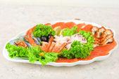 Seafood set — Stock Photo
