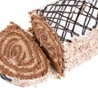Chocolate Swiss roll — Stock Photo #4586680