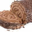 Chocolate Swiss roll — Stock Photo