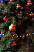 Bont-kerstboom — Stockfoto