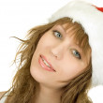 Happy pretty santa woman — Stock Photo #4811268