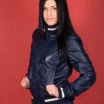 Girl at jacket — Stock Photo #4811473