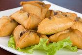 Meat roasted dumplings — Stock Photo