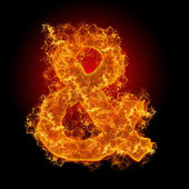 Fire sign AND — Stock Photo