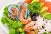 Seafood salad — Stock Photo