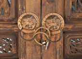Ancient Chinese Door Handle — Stock Photo