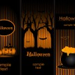 Halloween banners - Stock Vector