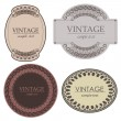 vintage labels — Stock Vector