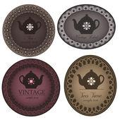 Teapot labels — Stock Vector
