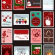 Royalty-Free Stock Vektorgrafik: Set of Christmas and New Year postage stamps