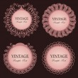 Vintage lace frames — Stock Vector #4011114