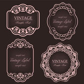 Vintage labels — Vetorial Stock