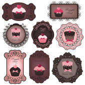 Cupcake labels — Vecteur