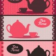Royalty-Free Stock Vector Image: Teapot banners