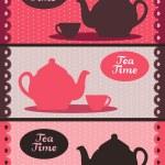Teapot banners — Stock Vector #4154865