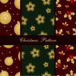 Seamless christmas patterns — Stock Vector