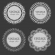 Stock Vector: Vintage lace frames