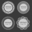 Vintage lace frames — Stock Vector
