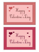 Valentine's cards — Stock Vector