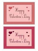 Valentine's cards — Stock vektor