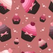 Seamless valentine pattern - Grafika wektorowa