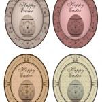Vintage easter labels — Stock Vector