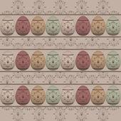 Vintage easter pattern — Stock Vector