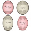 Floral vintage labels — Stock Vector