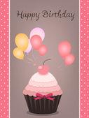 Birthday card — Stok Vektör