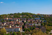 Stuttgart residential district under vlear blue sky, Badem Wurtt — Stock Photo