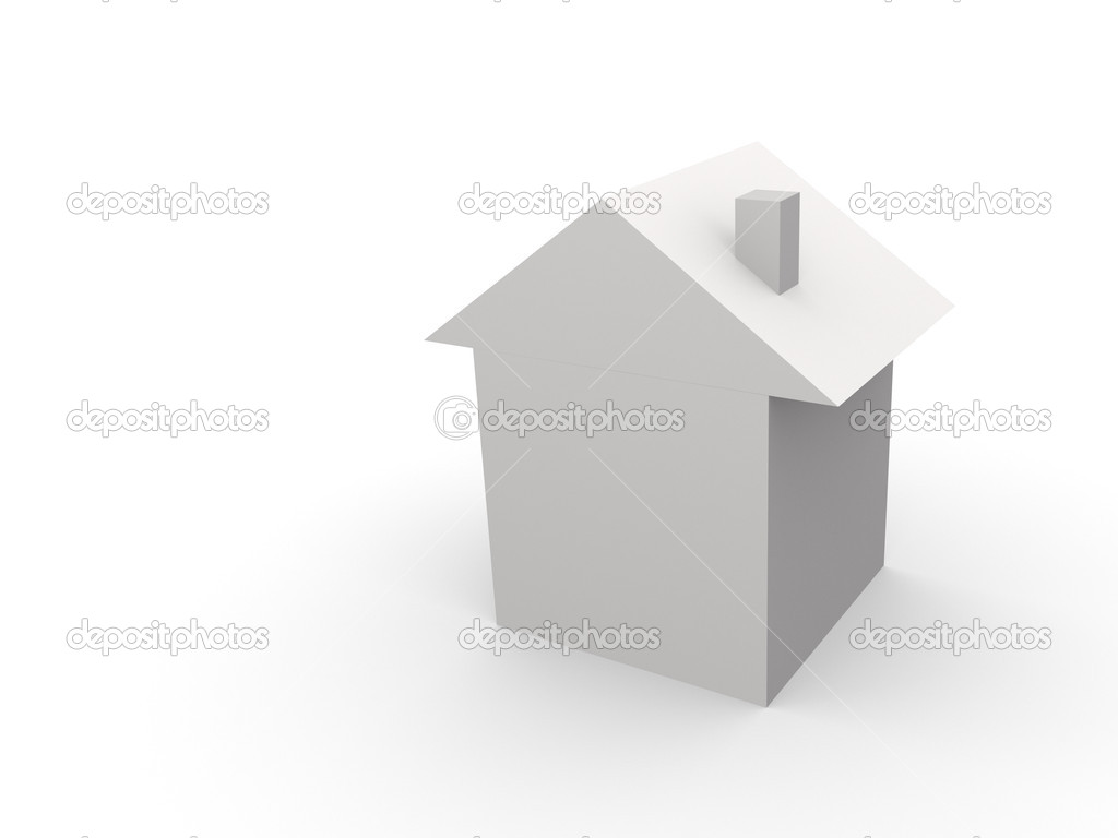 White house 3d — Stock Photo #4221480