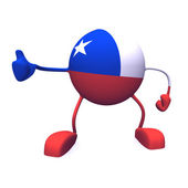 Yes and chile flag — Stock Photo