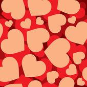 Hjärtan seamless mönster — Stockvektor
