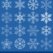 Snowflakes collection — Stock vektor