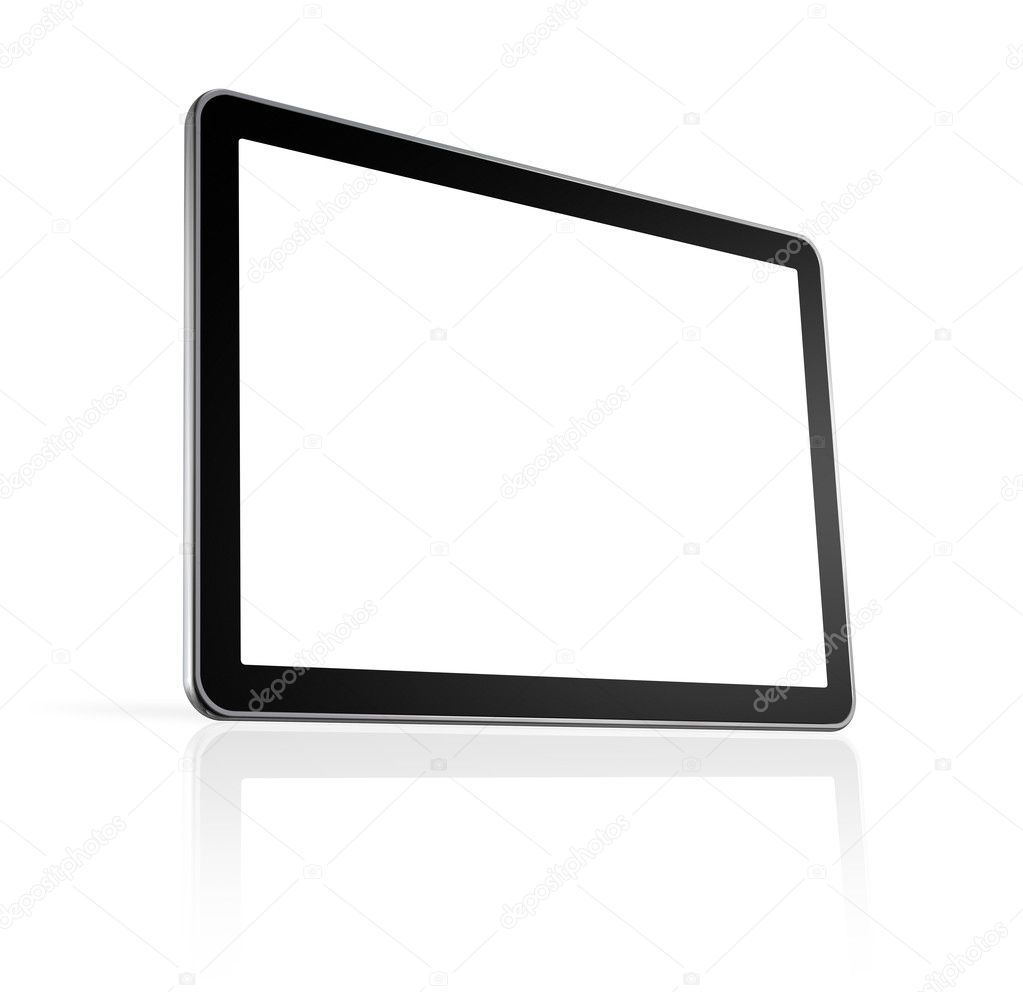 3D television, computer screen isolated on white with clipping path  Lizenzfreies Foto #4023403