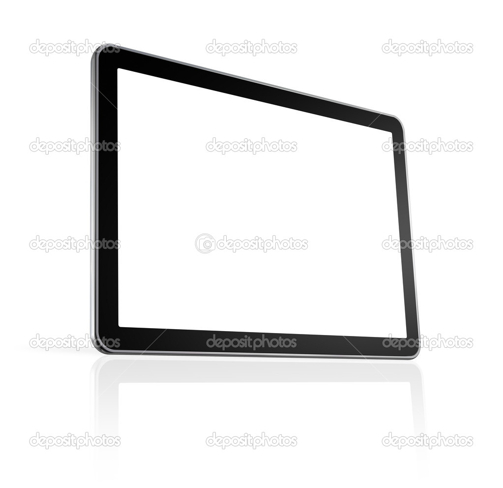 3D television, computer screen isolated on white with clipping path — Foto Stock #4023403
