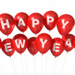 Happy new year balloons - Stock Photo