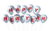 Happy new year balloons — Stock Photo