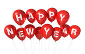 Happy new year balloons — Stock Photo