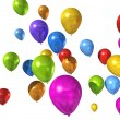 Colored balloons isolated on white — Stock Photo