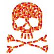 Skull made of capsule pills — Stock Photo #4914223