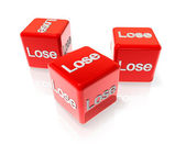 Lose red dices — Stock Photo