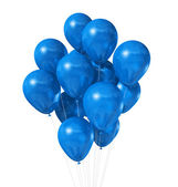 Blue balloons isolated on white — Stock Photo