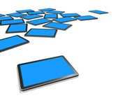 3D TV screens, digital tablet PC — Stock Photo